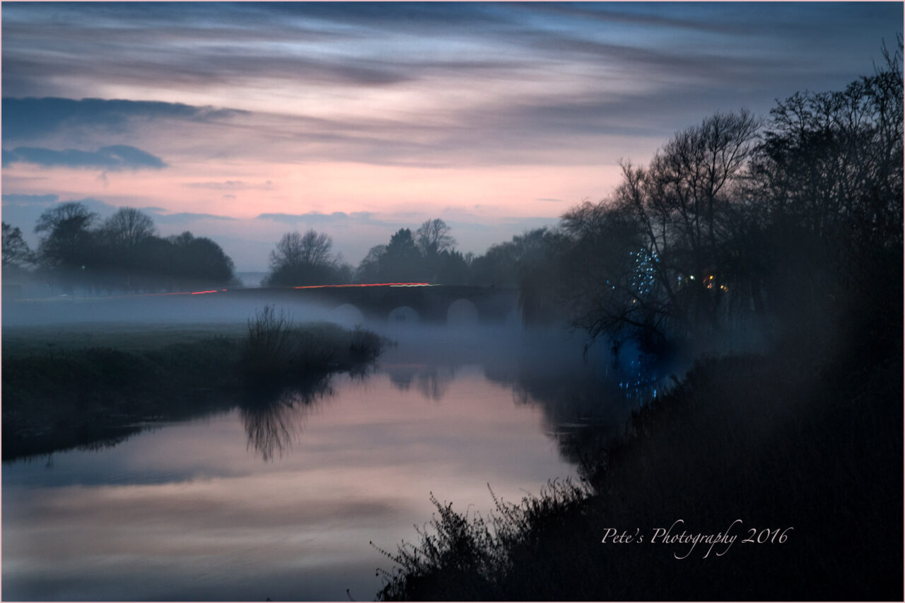 Mist on the River Avon at Bidford