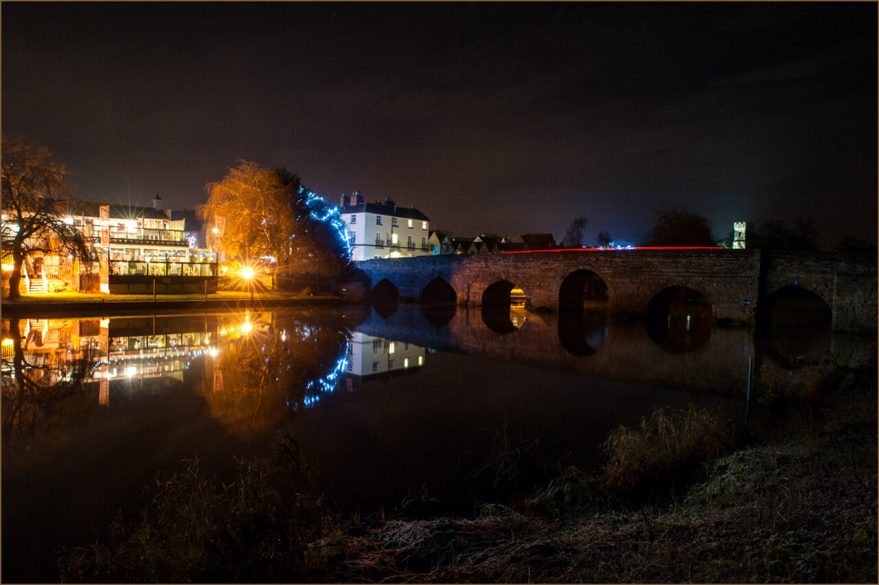 Bidford Bridge by night