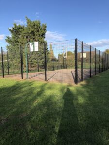 Enclosed basketball court in Broom