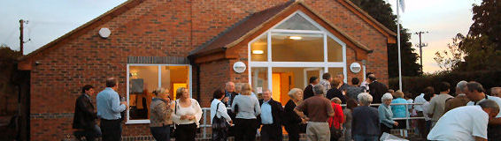 A busy event at Broom Village Hall