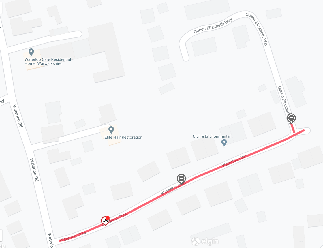 Waterloo Crescent Map