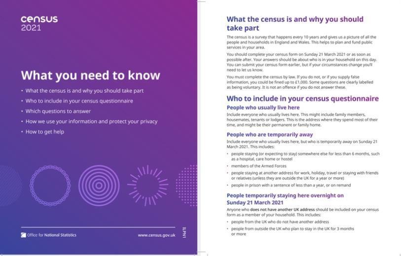 Census 21 information