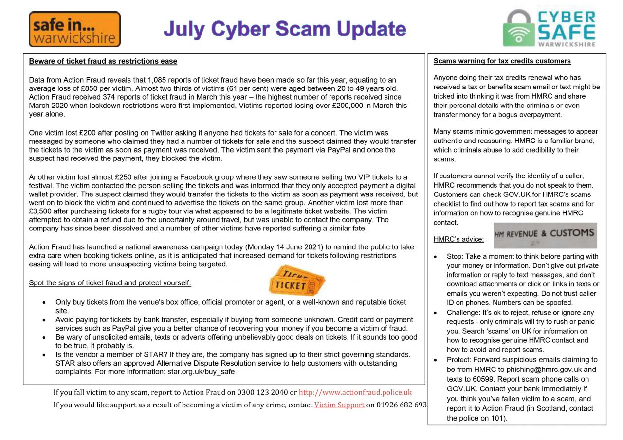 July Cyber Scam Image 1